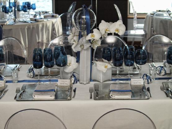 décoration,de,mariage,bleu,et,argent