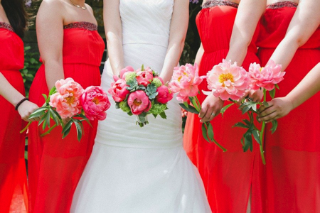 bouquets de demoiselles d'honneur