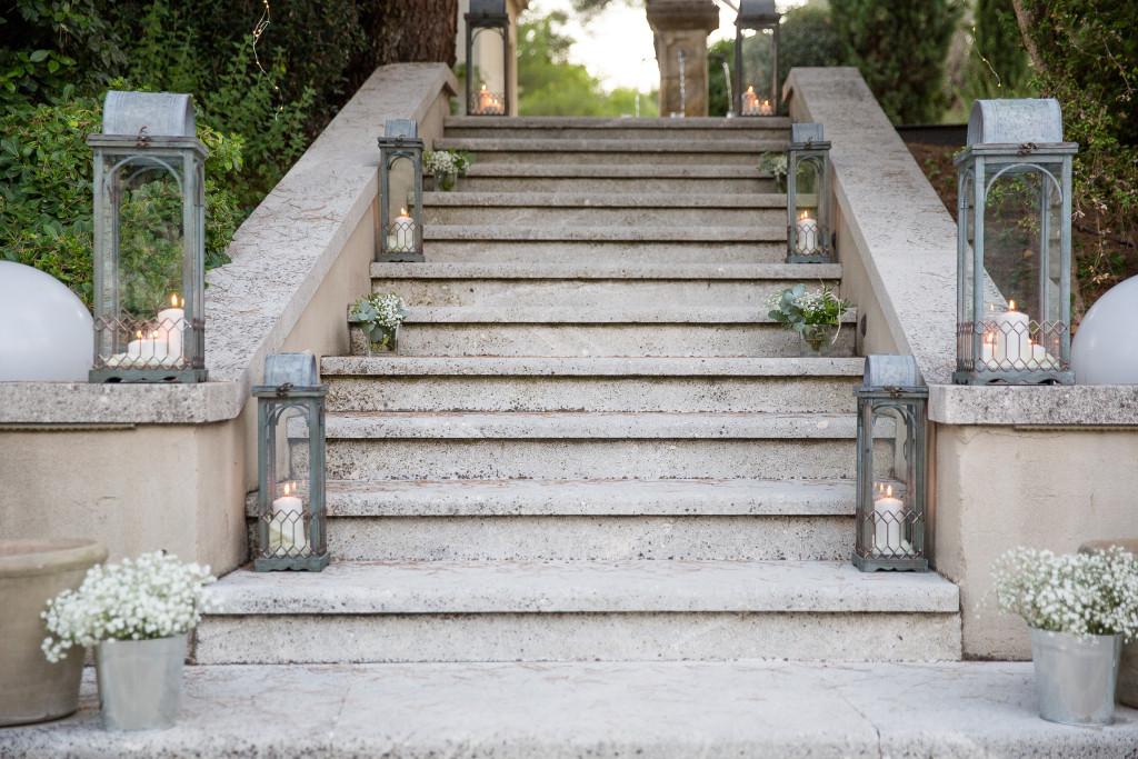 escaliers mariage, mariage extérieur
