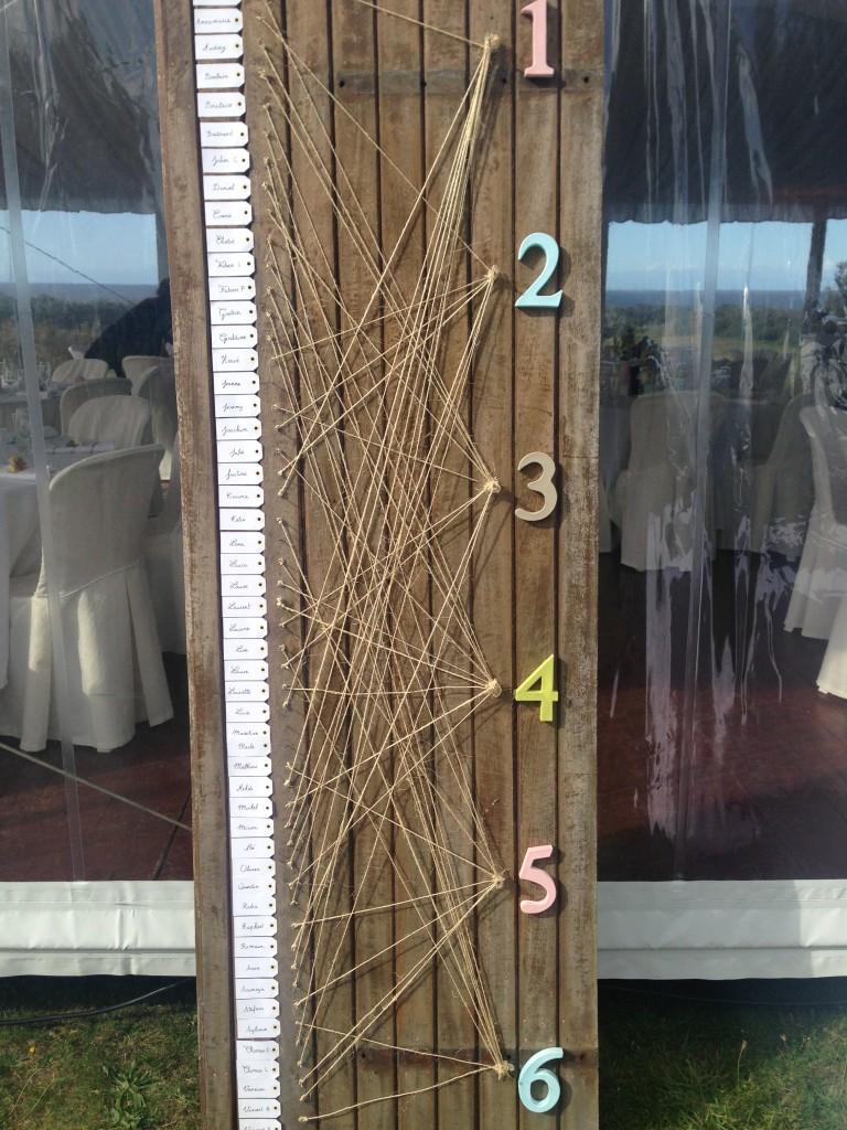plan de table mariage, mariage saint-briac-sur-mer