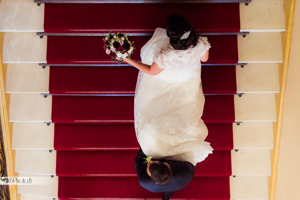 shooting photo mariés, robe de mariée