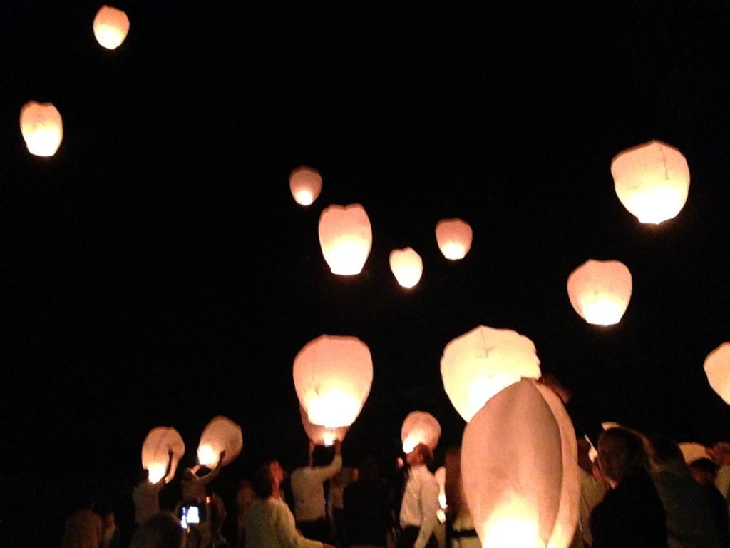 animation mariage, lanternes mariages