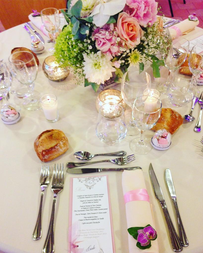 mariage romantique, décoration florale mariage