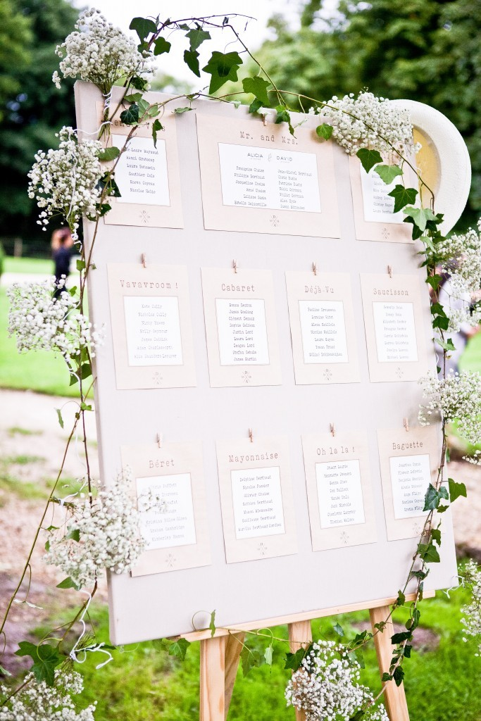 plan de table mariage, plan de table mariage bucolique