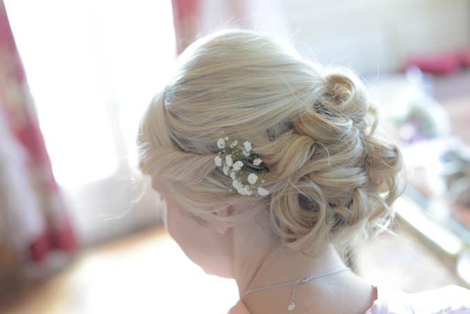 coiffure mariée été, accessoire coiffure mariée, com'une orchidée