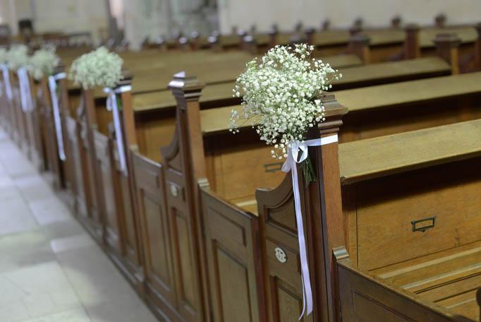 mariage église, bouquets mariage
