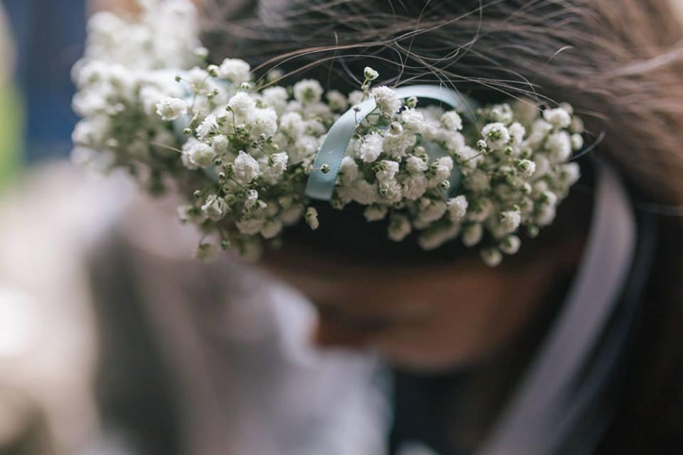 décoration bucolique mariage, mariage coiffure fleurs