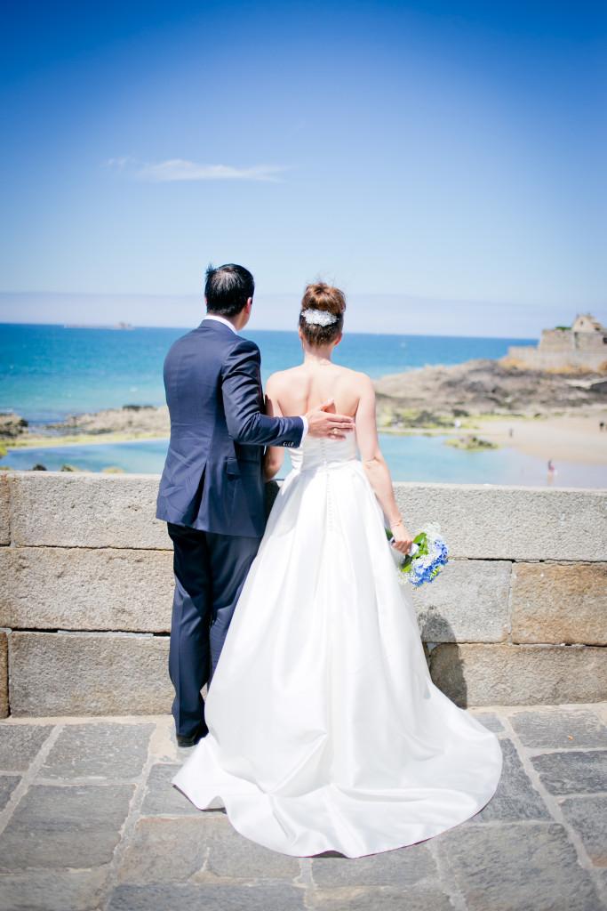 shooting photo mariage saint malo, mariés saint malo