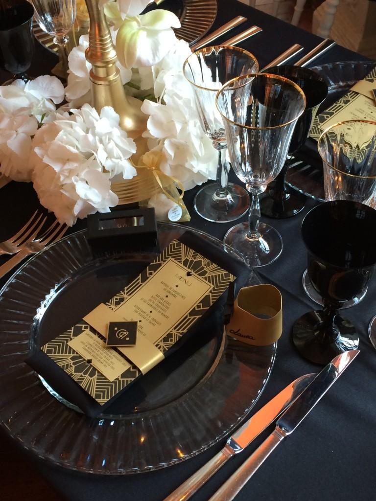mariage gatsby, décoration mariage gatsby