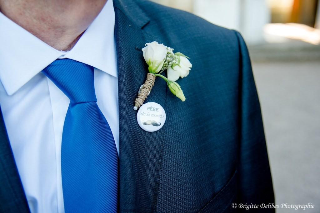 boutonnière marié, costume de marié