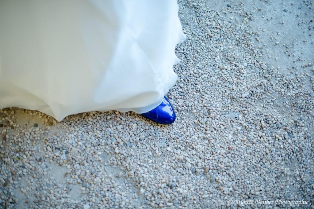 chaussures mariée, robe de mariée