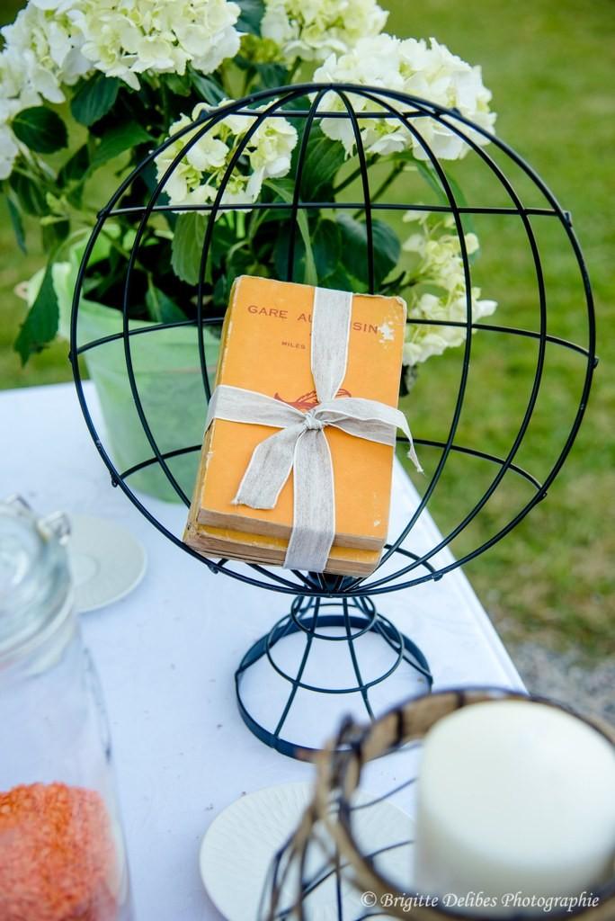 décoration globe mariage, livre décoration mariage