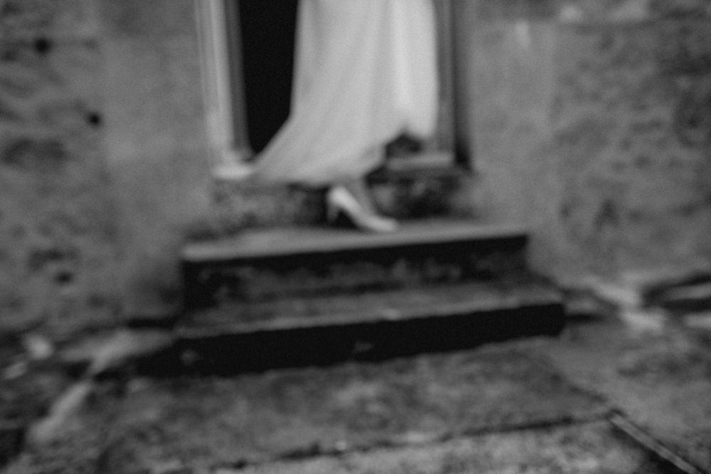 chaussures de la mariée, robe de mariée