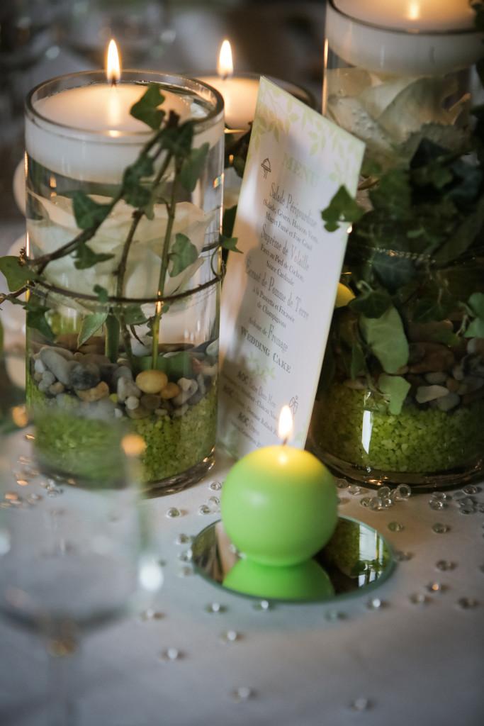 centre de table mariage, bougie mariage