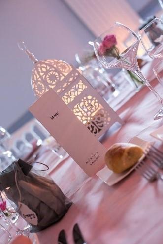 centre de table original, lanterne mariage
