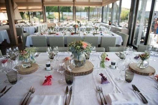 centre de table bois, centre de table fleuri