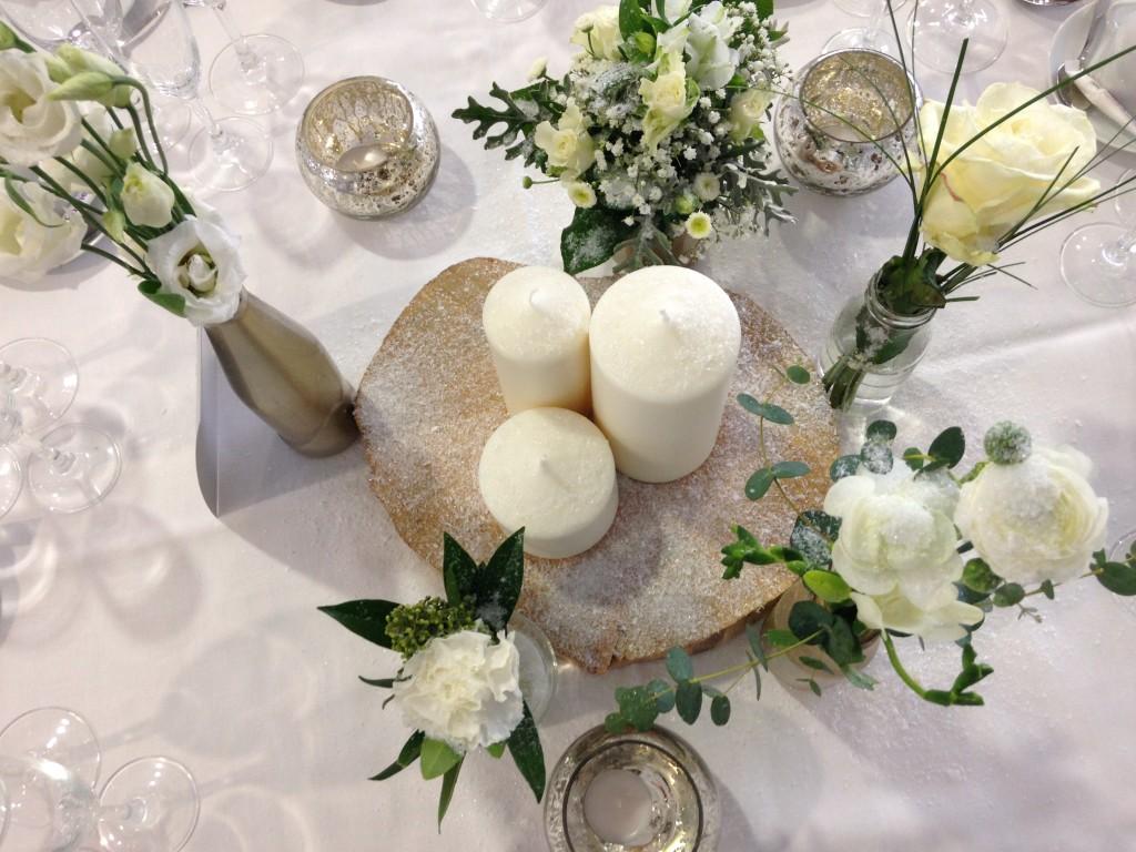 centre de table mariage, centre de table mariage hiver