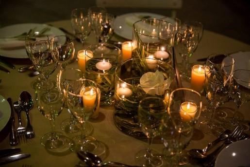 centre de table, bougies table