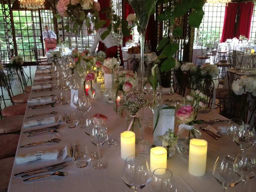 décoration mariage rose, mariage romantique