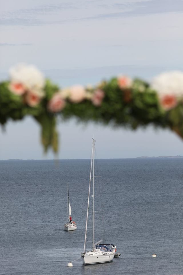 cérémonie laïque, mariage vue mer, voilier mariage
