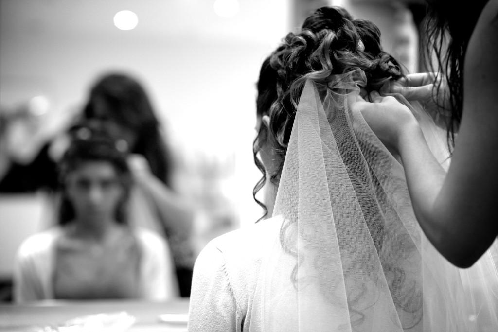 coiffure de la mariée, mise en beauté mariée