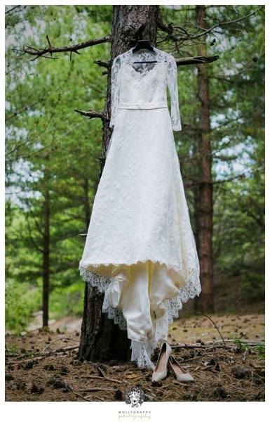 robe de mariée forêt, robe de mariée sous les arbres, robe de mariée écolo