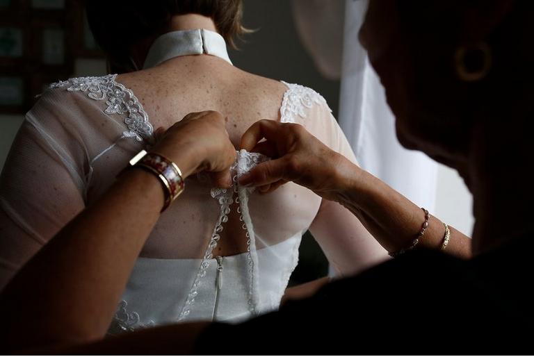 habillage robe de mariée