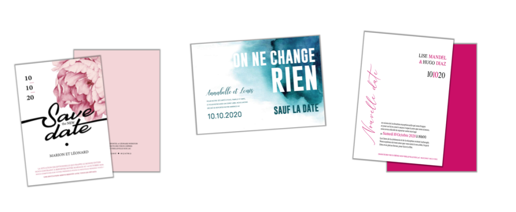 cartes change the date mariage
